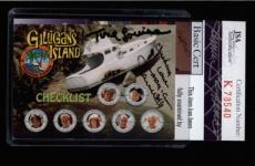 Tina Louise & Dawn Wells Dual Signed Gilligan's Island Card Jsa #k78540