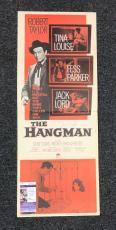 Tina Louise Fess Parker Hand Signed Jsa Original 34x14 Hangman Lobby Card