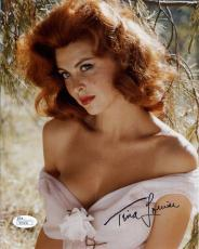 TINA LOUISE HAND SIGNED 8x10 COLOR PHOTO       GORGEOUS+VERY SEXY POSE      JSA