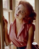 TINA LOUISE HAND SIGNED 8x10 COLOR PHOTO    STUNNING GORGEOUS YOUNG POSE     JSA