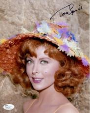 TINA LOUISE HAND SIGNED 8x10 COLOR PHOTO      STUNNING POSE AS GINGER      JSA