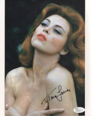 TINA LOUISE HAND SIGNED 8x10 COLOR PHOTO         VERY SEXY CLEAVAGE      JSA