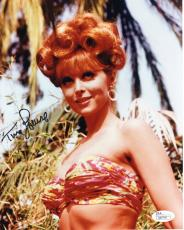 TINA LOUISE HAND SIGNED 8x10 COLOR PHOTO      VERY SEXY POSE AS GINGER       JSA