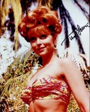 TINA LOUISE HAND SIGNED 8x10 COLOR PHOTO+COA       GINGER FROM GILLIGAN'S ISLAND
