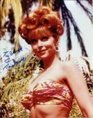 TINA LOUISE HAND SIGNED 8x10 COLOR PHOTO+COA    SEXY POSE AS GINGER    TO GEORGE