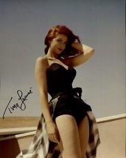 TINA LOUISE HAND SIGNED 8x10 COLOR PHOTO+COA       STUNNING+SEXY MOVIE STAR