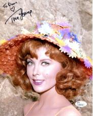 TINA LOUISE HAND SIGNED 8x10 COLOR PHOTO+JSA    SEXY POSE AS GINGER     TO DAVE