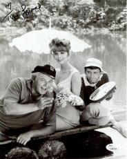 TINA LOUISE HAND SIGNED 8x10 PHOTO        WITH GILLIGAN+THE SKIPPER     COA JSA
