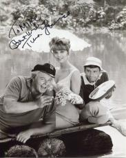 TINA LOUISE HAND SIGNED 8x10 PHOTO+COA     WITH GILLIGAN+SKIPPER     TO MIKE