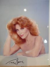 TINA LOUISE HAND SIGNED OVERSIZED 11x14 COLOR PHOTO+COA      GORGEOUS+SEXY POSE