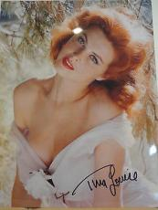 TINA LOUISE HAND SIGNED OVERSIZED 11x14 PHOTO+COA     GINGER   GILLIGAN'S ISLAND