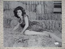 TINA LOUISE HAND SIGNED OVERSIZED 11x14 PHOTO+COA     SULTRY+SEXY POSE   GINGER
