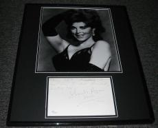 Tina Louise SEXY Signed Framed 16x20 Photo & Note Display JSA Gilligan's Island
