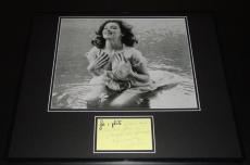 Tina Louise Signed Framed 16x20 Handwritten Note & Photo Set Gilligan's Island