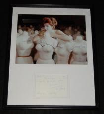 Tina Louise Signed Framed 16x20 Handwritten Note & Photo Set Gilligan's Island B