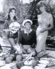 TINA LOUISE+DAWN WELLS HAND SIGNED 8x10 PHOTO+COA          GINGER+MARY ANN