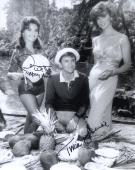 TINA LOUISE+DAWN WELLS HAND SIGNED 8x10 PHOTO+COA          GINGER+MARY ANN