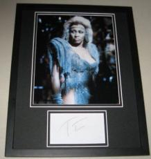 Tina Turner Facsimile Signed Framed 11x14 Photo Display Mad Max