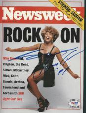 TINA TURNER Signed NEWSWEEK Magazine with PSA/DNA COA (NO Label)