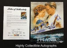 Titanic Cast 6 Signed 11x14 Photo Psa Loa Leonardo Dicaprio Kate Winslet Coa