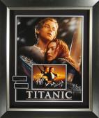 Titanic Leonardo DiCaprio and Kate Winslet Signed Poster Fra