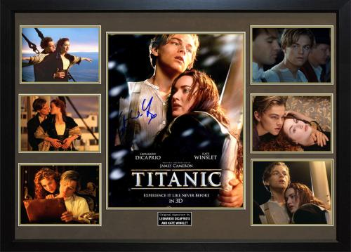Titanic Leonardo Dicaprio Kate Winslet Signed 11x14 Photo Display Case AFTAL UAC