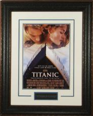 Titanic unsigned 11X17 Masterprint Mini Movie Poster Leather Framed w/ Leonardo DiCaprio & Kate Winslet (entertainment/photo)