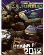 Tmnt Cast- Astin, Biggs, Paulsen & Richardson Signed 11X14 Photo PSA/DNA #S87545