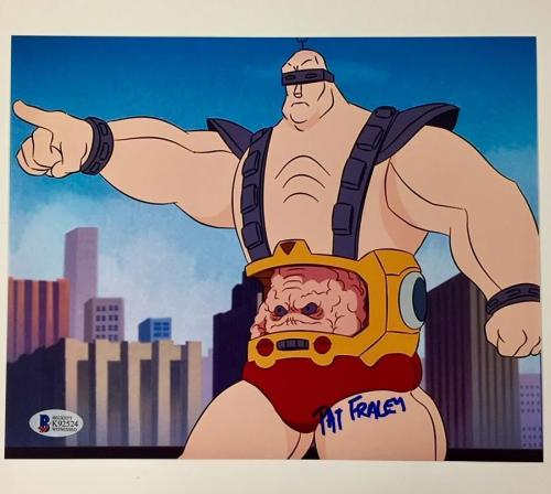 TMNT Ninja Turtles PAT FRALEY voice of KRANG Signed 8x10 Photo ~ Beckett BAS COA