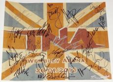 TNA UK TOUR SIGNED MINI POSTER - Sting, Kurt Angle, Austin Aries, Samoa Joe, etc