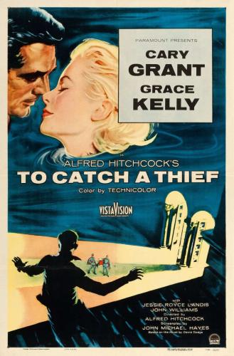 To Catch a Thief Original Movie Poster. 1955. Linen Backed