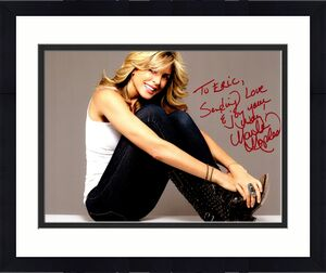TO ERIC - Marla Maples Signed - Autographed USA Flag 8x10 inch Photo - Donald Trump - Guaranteed to pass BAS