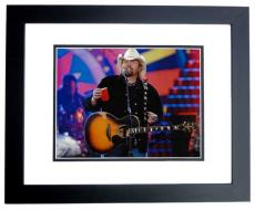Toby Keith Signed - Autographed Concert 8x10 inch Photo - BLACK CUSTOM FRAME - Guaranteed to pass PSA or JSA - Country Music Singer