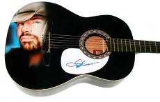 Toby Keith Autographed Signed 12String Airbrushed Guitar PSA