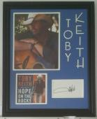 Toby Keith Autographed Signed Index Card 8x10 Framed 14x18 JSA
