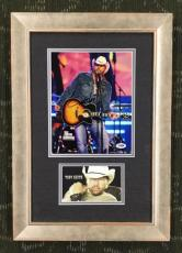 TOBY KEITH- Country Singer signed/autographed 8x10 custom framed display-PSA COA