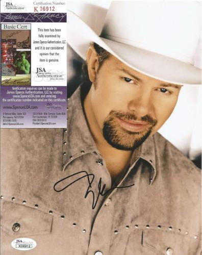 Toby Keith Country Star Signed Autographed 8x10 Photo Jsa Coa #k06912