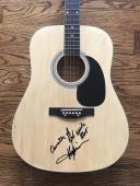 "Toby Keith ""courtesy Of Red White Blue"" Signed Acoustic Guitar Bas Coa #e82143"