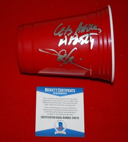 TOBY KEITH lets have a party signed double walled red solo cup BECKETT COA 3
