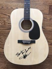 "Toby Keith ""should've Been A Cowboy"" Signed Acoustic Guitar Bas Coa #d81627"
