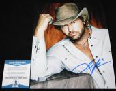 Toby Keith signed 8 x 10, Should've Been a Cowboy, Unleashed, Beckett BAS B92953