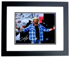 Toby Keith Signed - Autographed Concert 8x10 inch Photo - Guaranteed to pass PSA/DNA or JSA - BLACK CUSTOM FRAME - Country Music Singer
