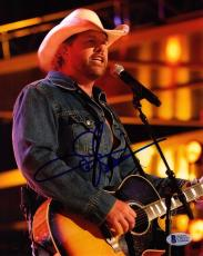 TOBY KEITH Signed Autographed Country Star 8x10 Photo Beckett BAS # C92327