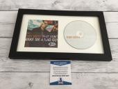 Toby Keith Signed That Don't Make Me a Bad Guy CD Cover Framed Beckett BAS COA a