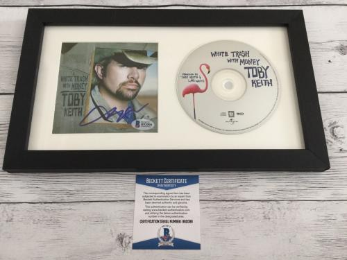 Toby Keith Signed White Trash With Money CD Cover Framed Beckett BAS COA a