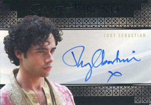 Toby Sebastian Autographed 2018 Game of Thrones Card