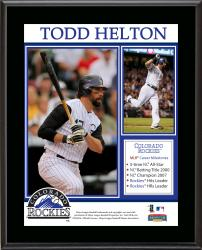 Todd Helton Colorado Rockies Retirement Sublimated 10.5'' x 13'' Plaque - Mounted Memories