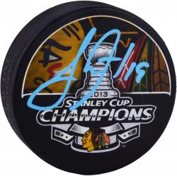 Jonathan Toews Chicago Blackhawks 2013 Stanley Cup Autographed Hockey Puck - Mounted Memories