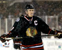 Jonathan Toews Chicago Blackhawks Autographed 16'' x 20'' Stadium Series Photograph - Mounted Memories