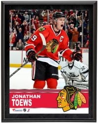 "Jonathan Toews Chicago Blackhawks Sublimated 10"" x 13"" Plaque - Mounted Memories"
